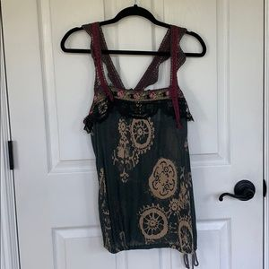 Free People Crochet Detail Top/Tank